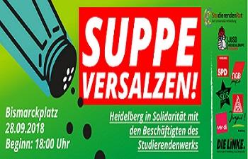 Demo Suppe versalzen Studierendenwerk Heidelberg