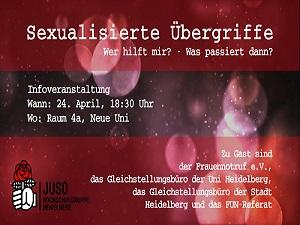 Veranstaltung Sexualisierte Gewalt Juso HSG