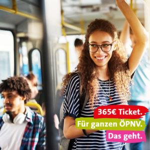 365 Euro Ticket für den ganzen ÖPNV