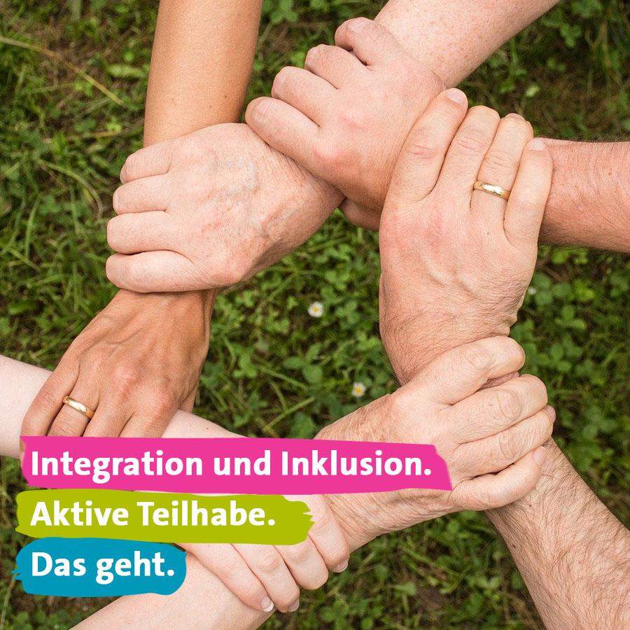 Integration und Inklusion. Aktive Teilhabe. das geht.