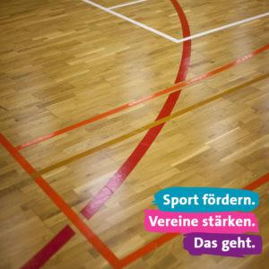 Sport fördern. Vereine stärken. Das geht.