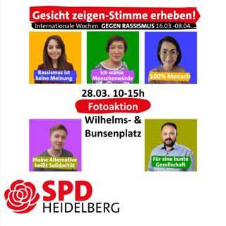 Gesicht zeigen Stimme erheben gegen Rassismus, SPD Heidelberg